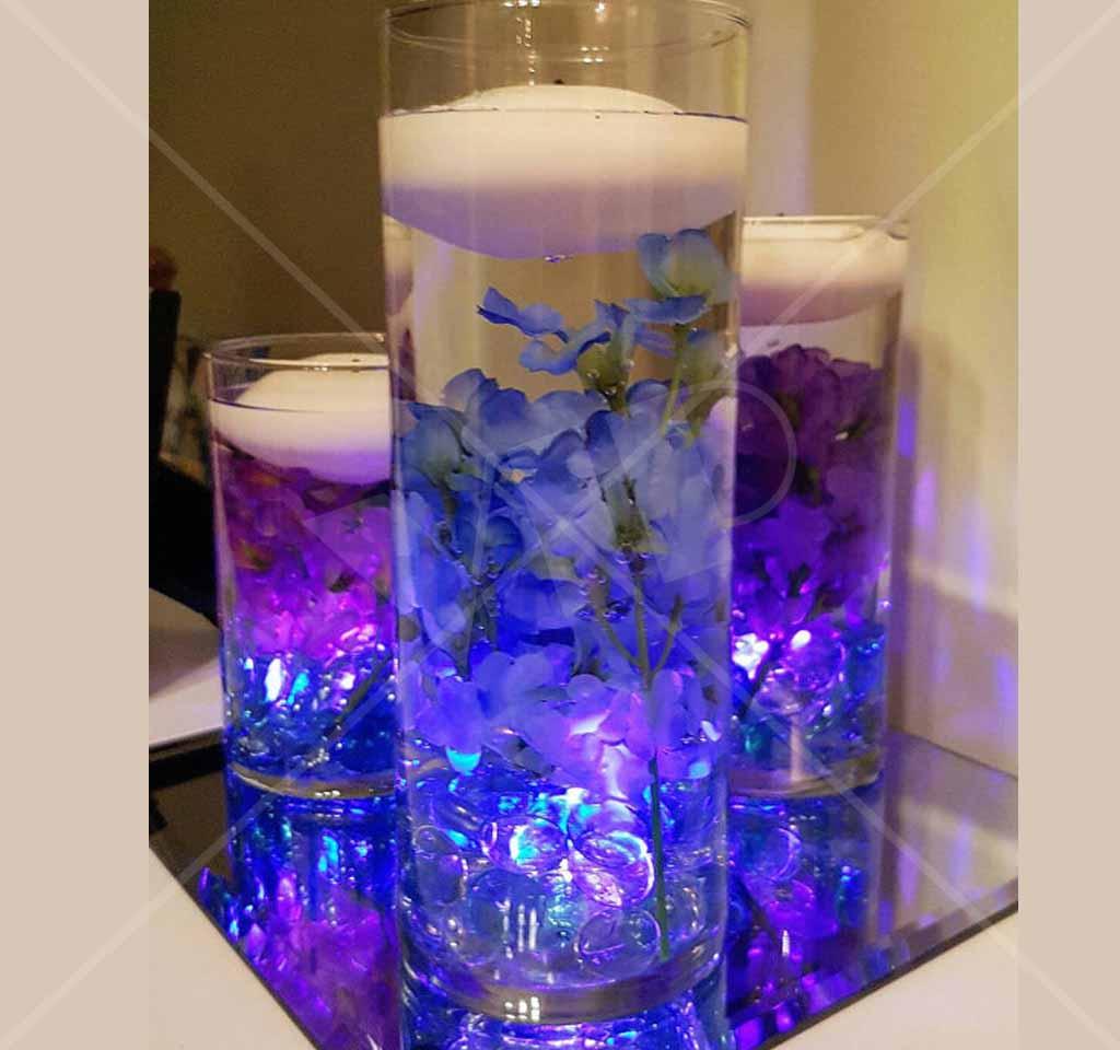 Glorifier led puck wedding center piece light up