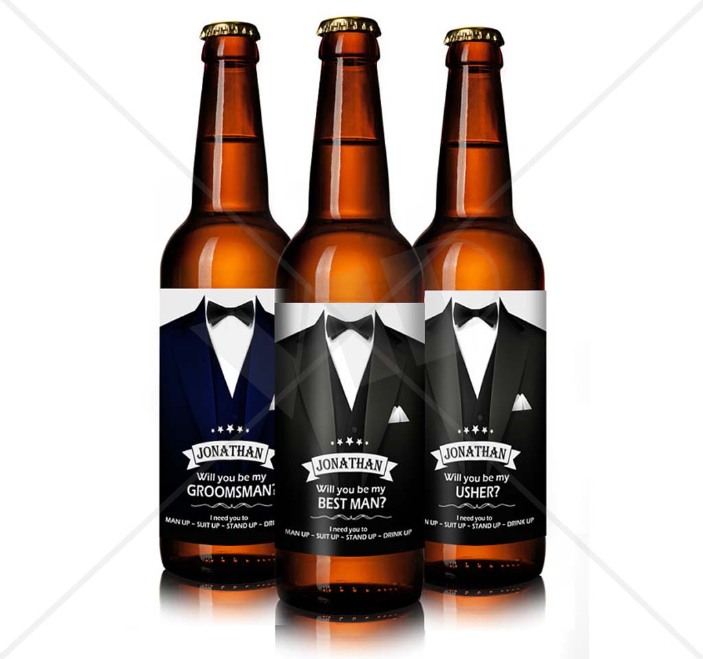 Custom Beer Neck Bottle Label Decor