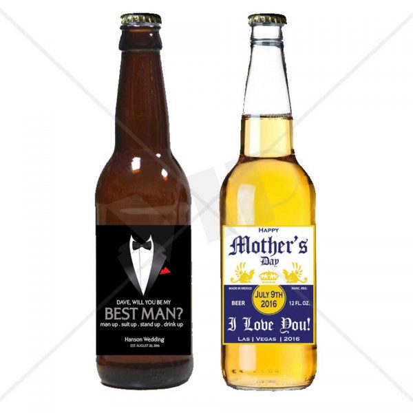 graphic regarding Printable Beer Bottle Labels referred to as Customized Beer Neck Bottle Label Decor