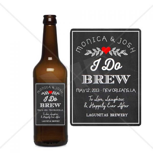 photograph relating to Printable Beer Labels referred to as Customized Beer Neck Bottle Label Decor