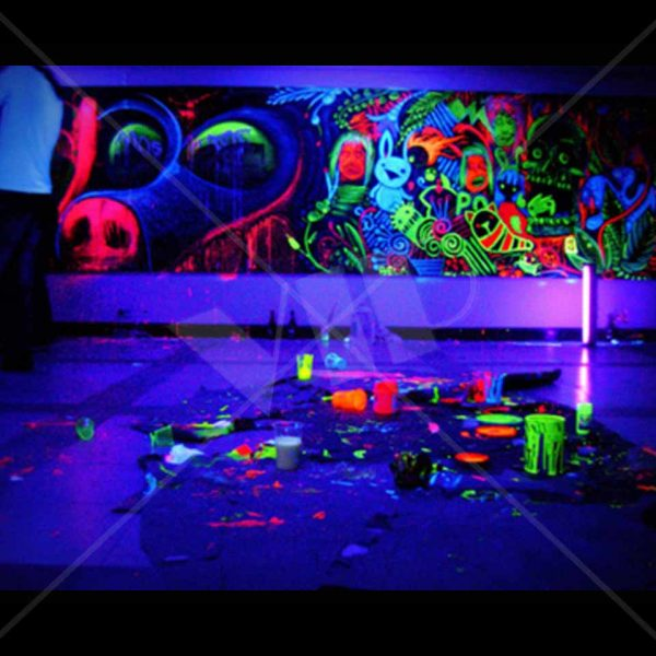 Stupendous Uv Black Light Neon Rave Body Glow Paint 1 Gallon Home Remodeling Inspirations Genioncuboardxyz