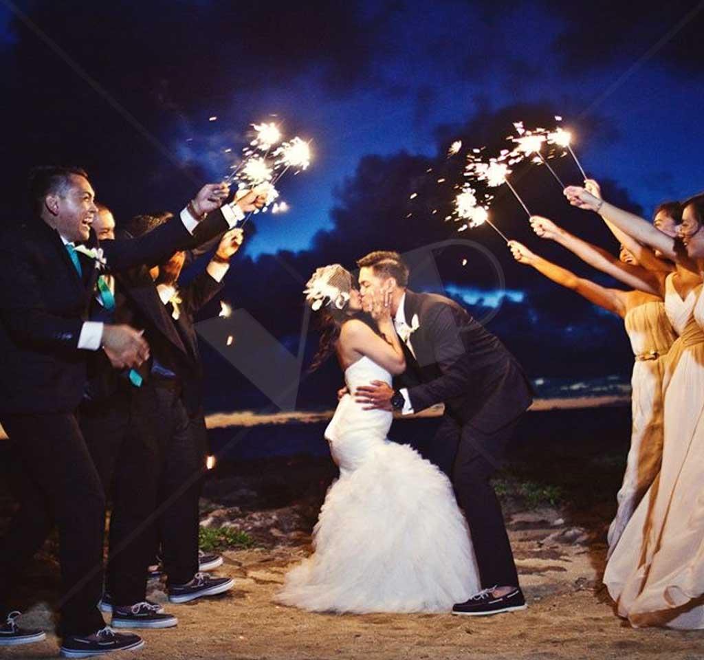Sparklers For Wedding.8 Gold Wire Wedding Dessert Sparklers