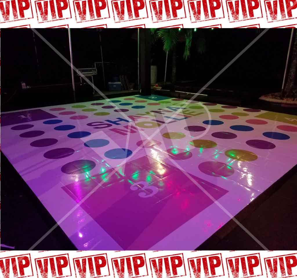 Dance Floor Vinyl Decor Wedding Wrap Custom Yolo Party