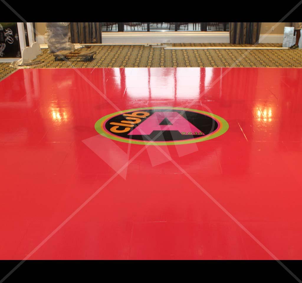 Dance Floor Monogram Vinyl Decal Decor For Bar Bat Mitzvah