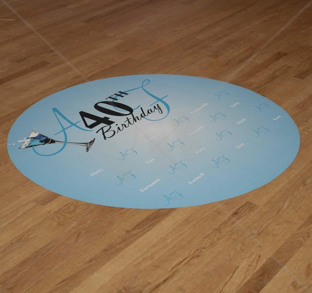 Dance Floor Monogram Vinyl Decal Decor For Weddings Custom