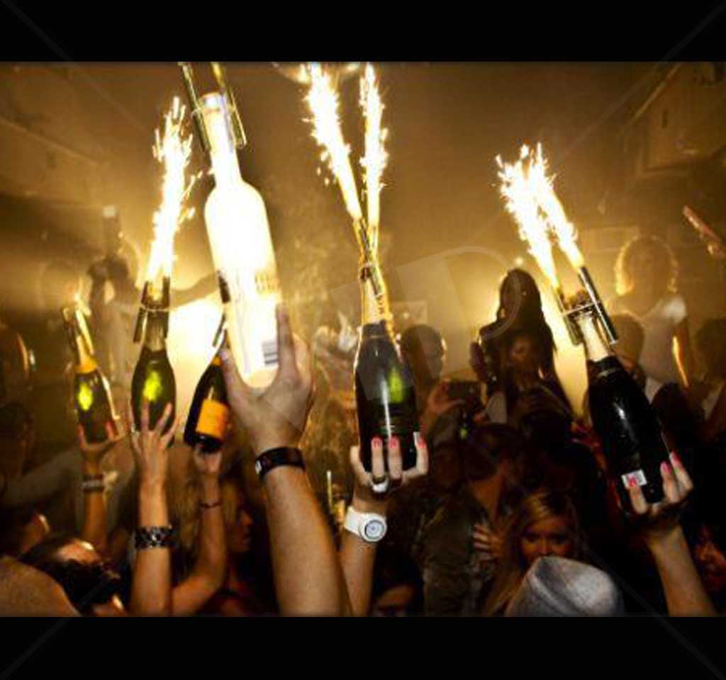 Bulk Champagne Bottle Sparklers Yolo Party Supplies