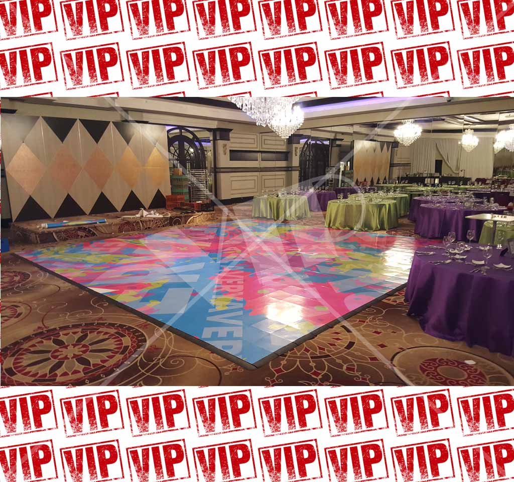 Dance Floor Vinyl Decor Birthday Sweet 16 Wrap Custom