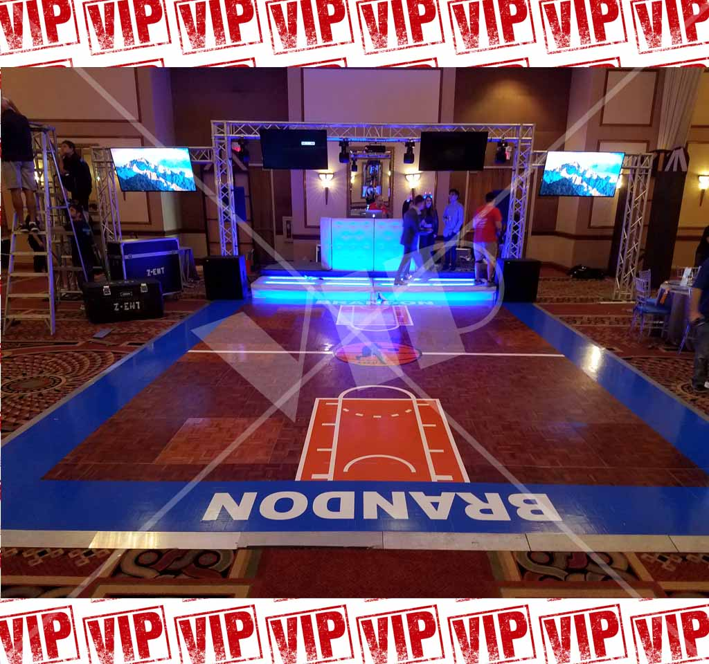 Dance Floor Vinyl Decor Bar Bat Mitzvah Wrap Custom Yolo
